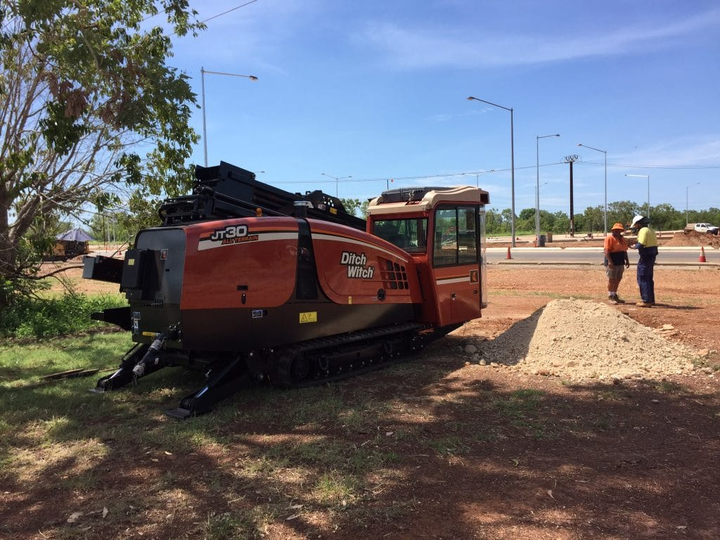 Ditch Witch All Terrain directional drill used on site - Darwin